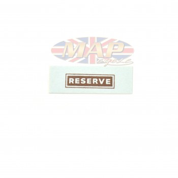 DECAL/  RESERVE  GAS TANK 00-9195