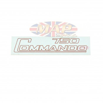 DECAL/  750 COMMANDO / GOLD 06-2019