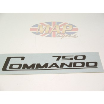 DECAL/  750 COMMANDO / BLACK 06-2020
