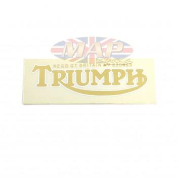 DECAL/  TRIUMPH REG TRADE MK  GOLD-WH VA 60-0068
