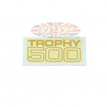 DECAL/  TROPHY 500  LARGE BLOCK 60-2105