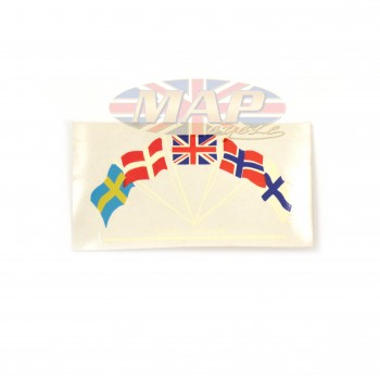 DECAL/  OLIE HOJDE  (5 COUNTRY FLAGS) 60-2128