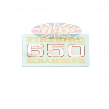 DECAL/ FIREBIRD SCRAMBLER 650 60-2373