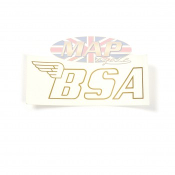 BSA - Gold Fuel Tank Decal on Transparent Backing 60-3158