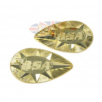 BADGESET/ GASTANK A65 '68-70 METAL OE uk 82-9695/9696