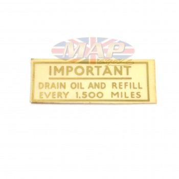 DECAL/  DRAIN & REFILL    OR SEE 60-1816 99-3501