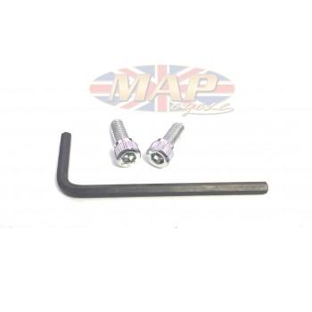 Triumph BSA Twins, Chrome-Plated, Allen-Head, Points Cover Screws MAP3150/C