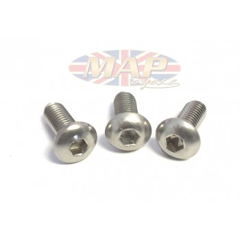 Triumph Trident, BSA Rocket 3, Stainless Allen-Head, Points Cover Screw Set MAP3160/S