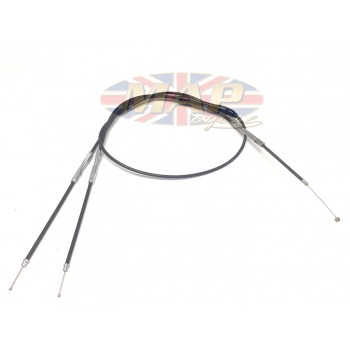 """Throttle Cable 1 into 2 for Amal MkII and Mikuni, 50"""" Overall Length  MAP0005L"""