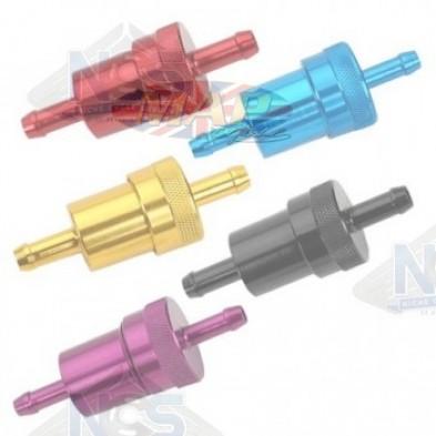 CNC Aluminum Fuel Filters w/Brass Element CNC-FUEL-FILTERS