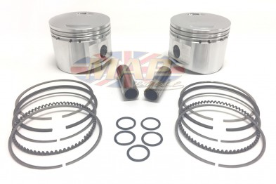 Norton Commando 850cc Stock-Rod Billet Piston Set MAP9035A-9036A-BILLET