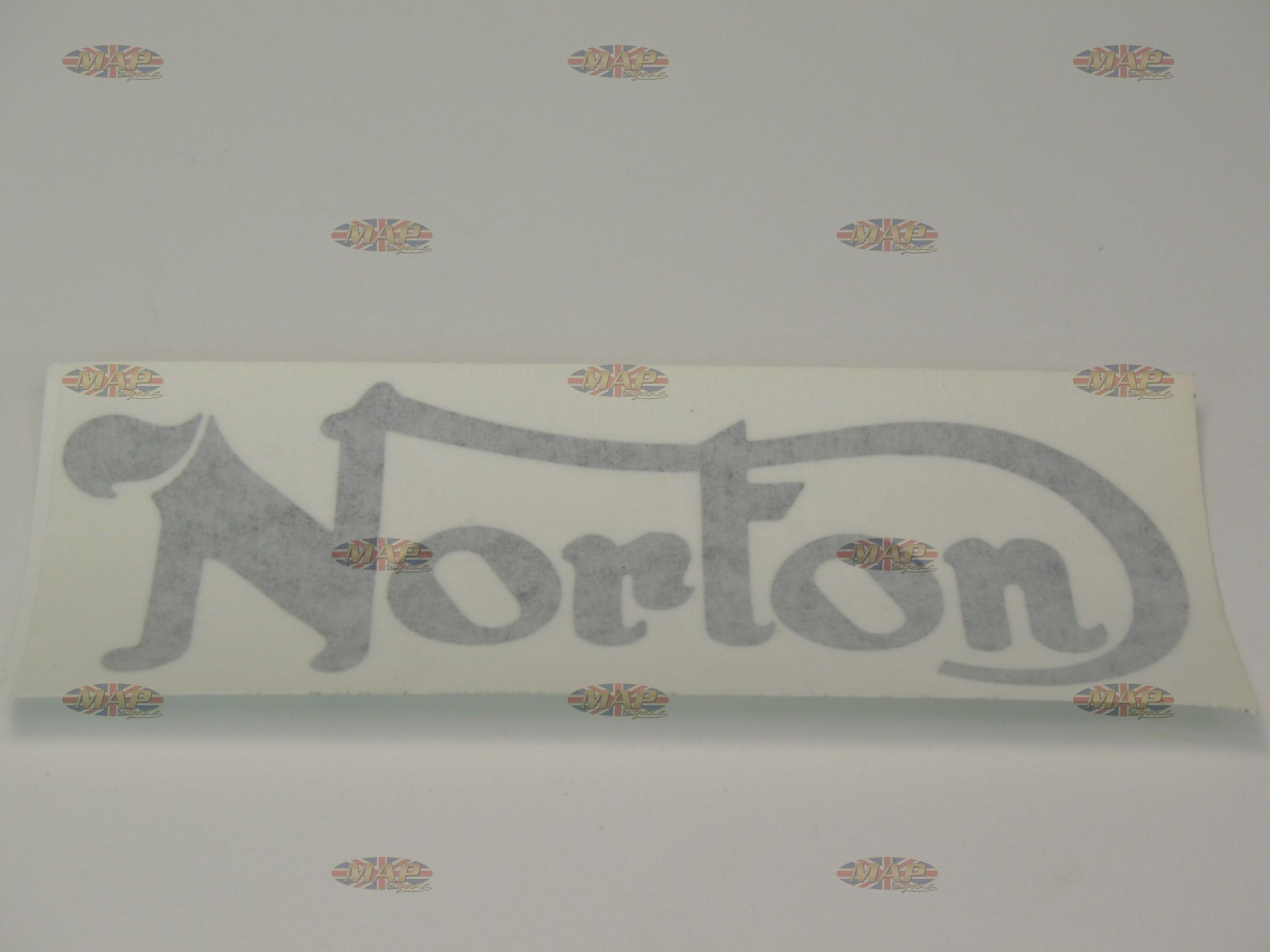 DECAL/  NORTON  TANK/ BLACK 06-4881