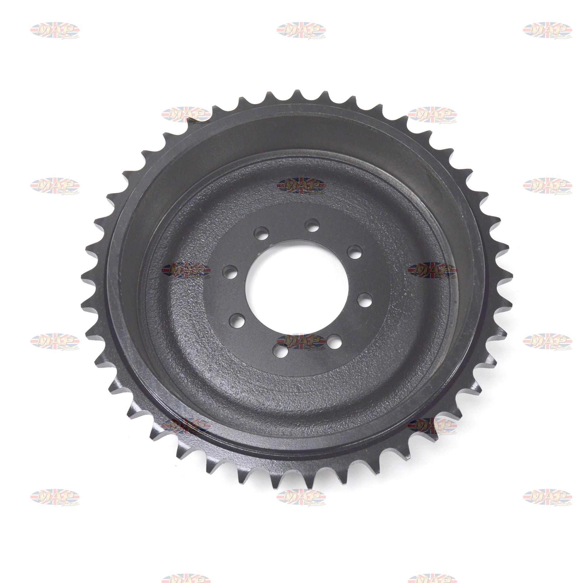 DRUMSPROCKET/ TRI 43T 8-BOLT CASTIRON uk 37-1276