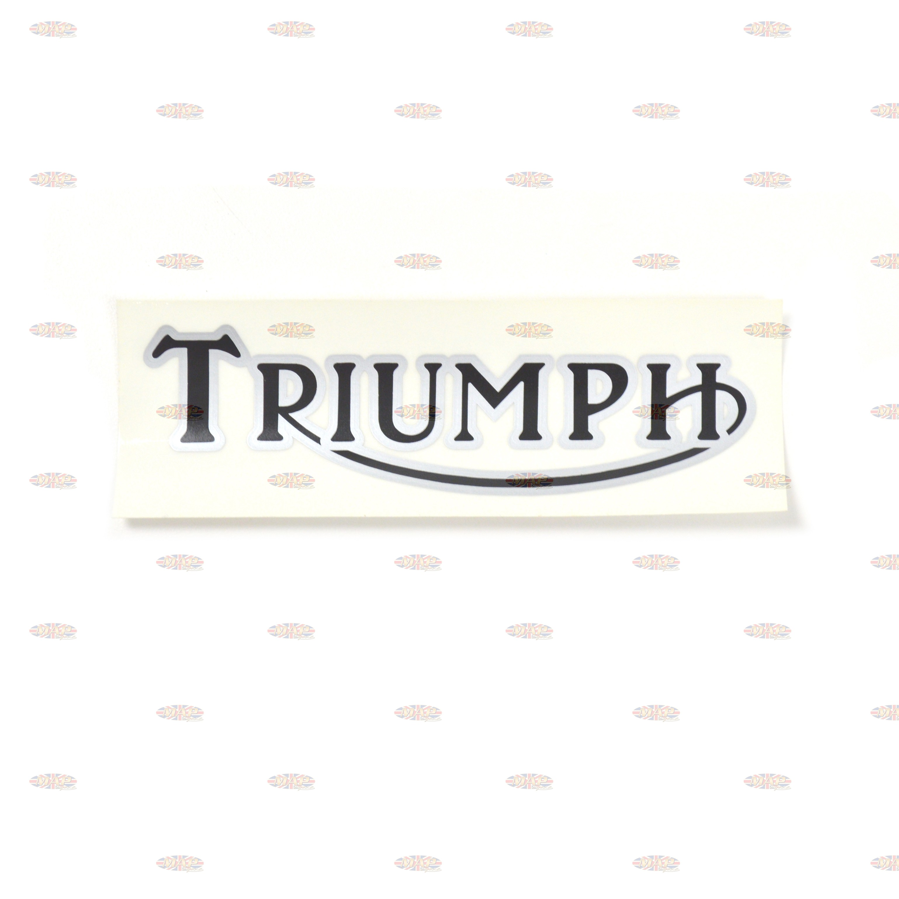 DECAL/  TRIUMPH  BLACK/SILVER (5x1-1/2 ) 60-3157