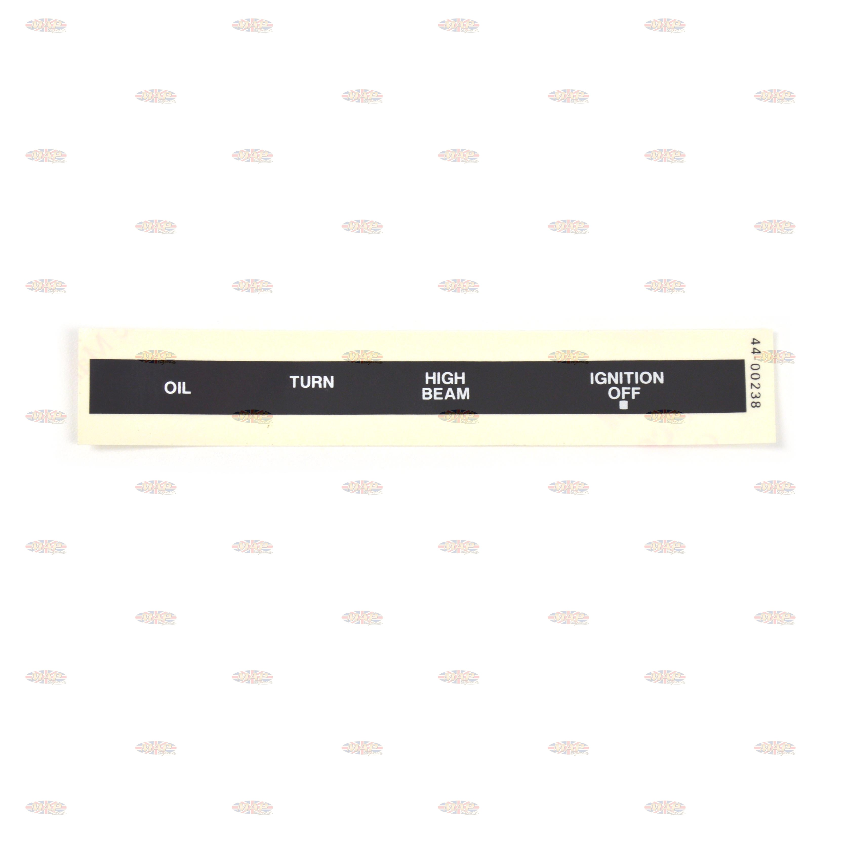 DECAL/ OIL-HI BEAM-TURN-IGN OFF 60-7004
