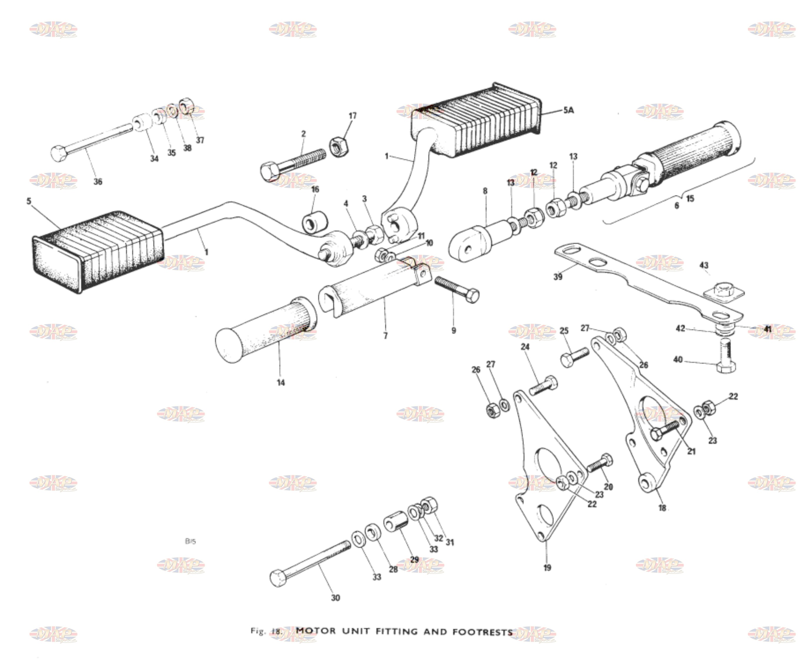Engine Mounts Footrests Mounting Diagram 1979 Triumph T140