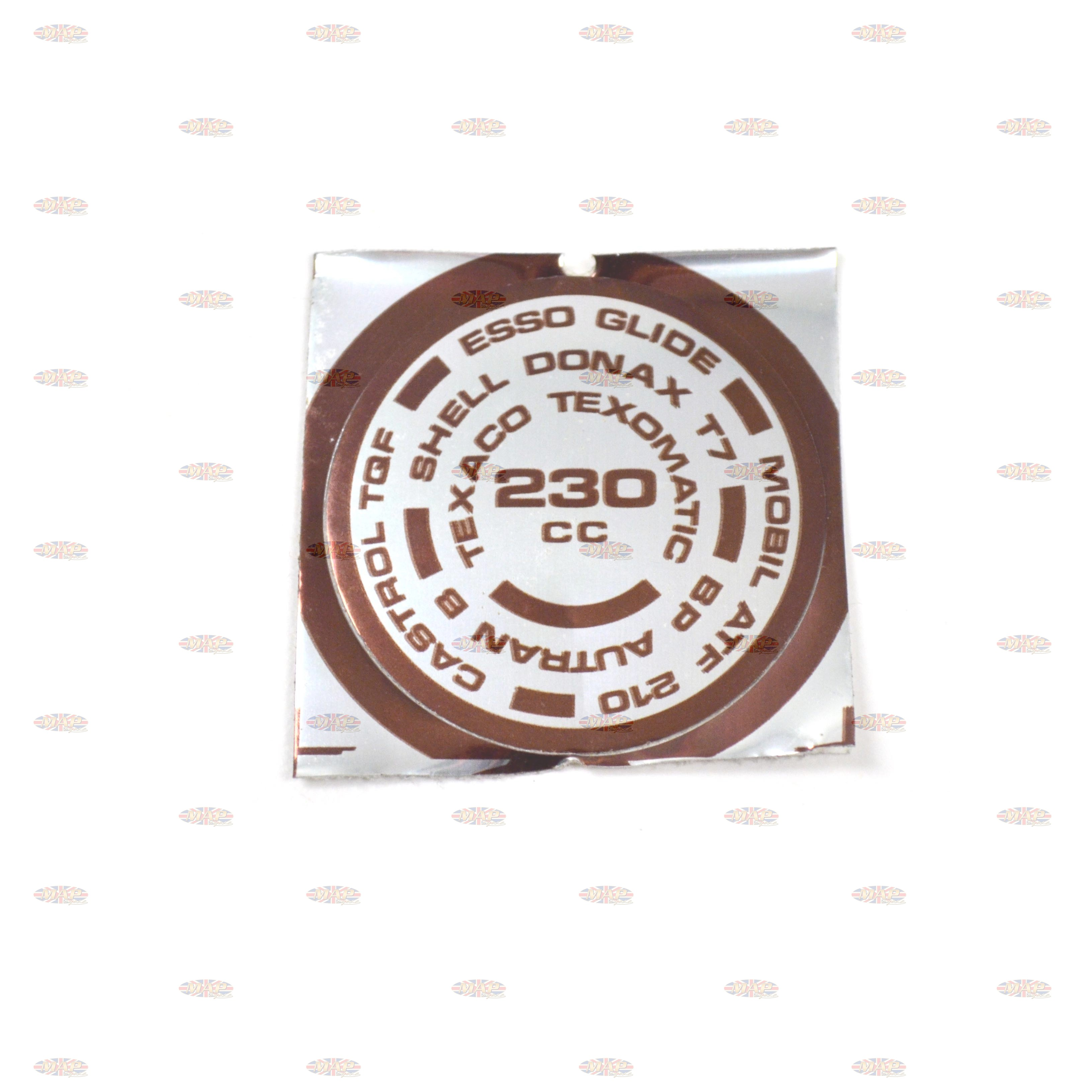 DECAL/  230cc  TOP FORK NUT 97-4310