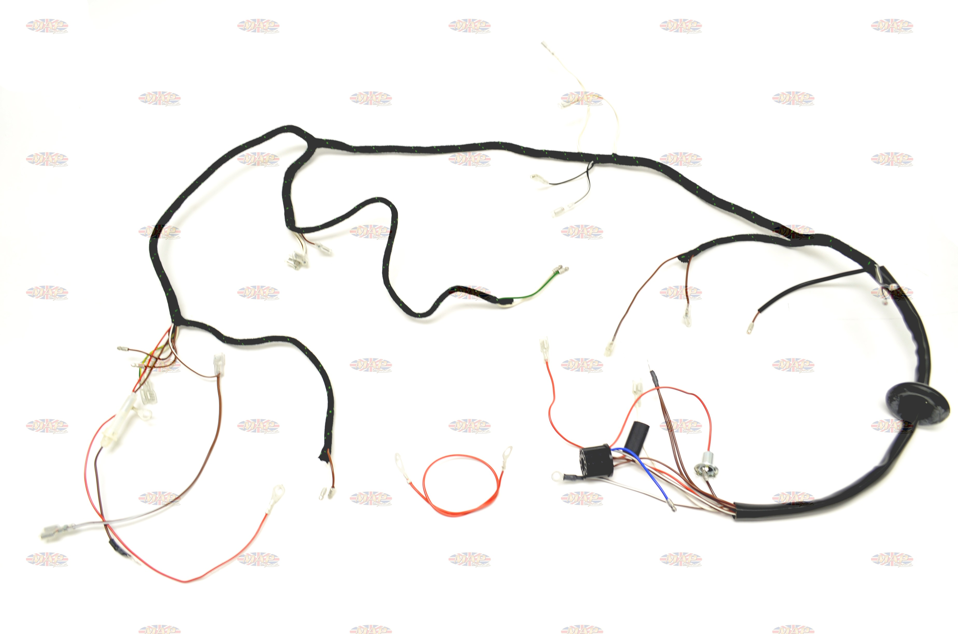triumph 1967 t90 t100 t120 tr6 uk made quality wiring harness rh mapcycle com