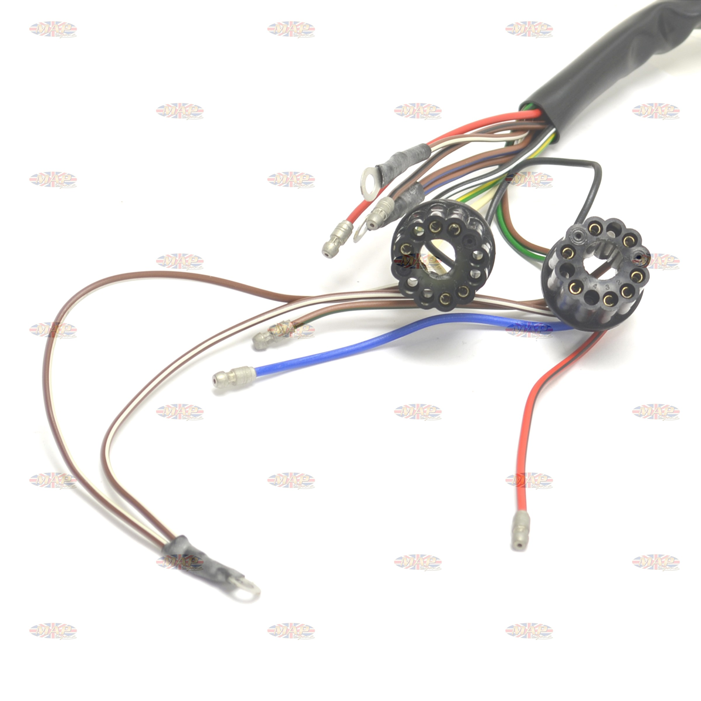 Admirable Bsa 1966 67 A50 A65 Uk Made 12 Volt Wiring Harness Wiring 101 Mentrastrewellnesstrialsorg