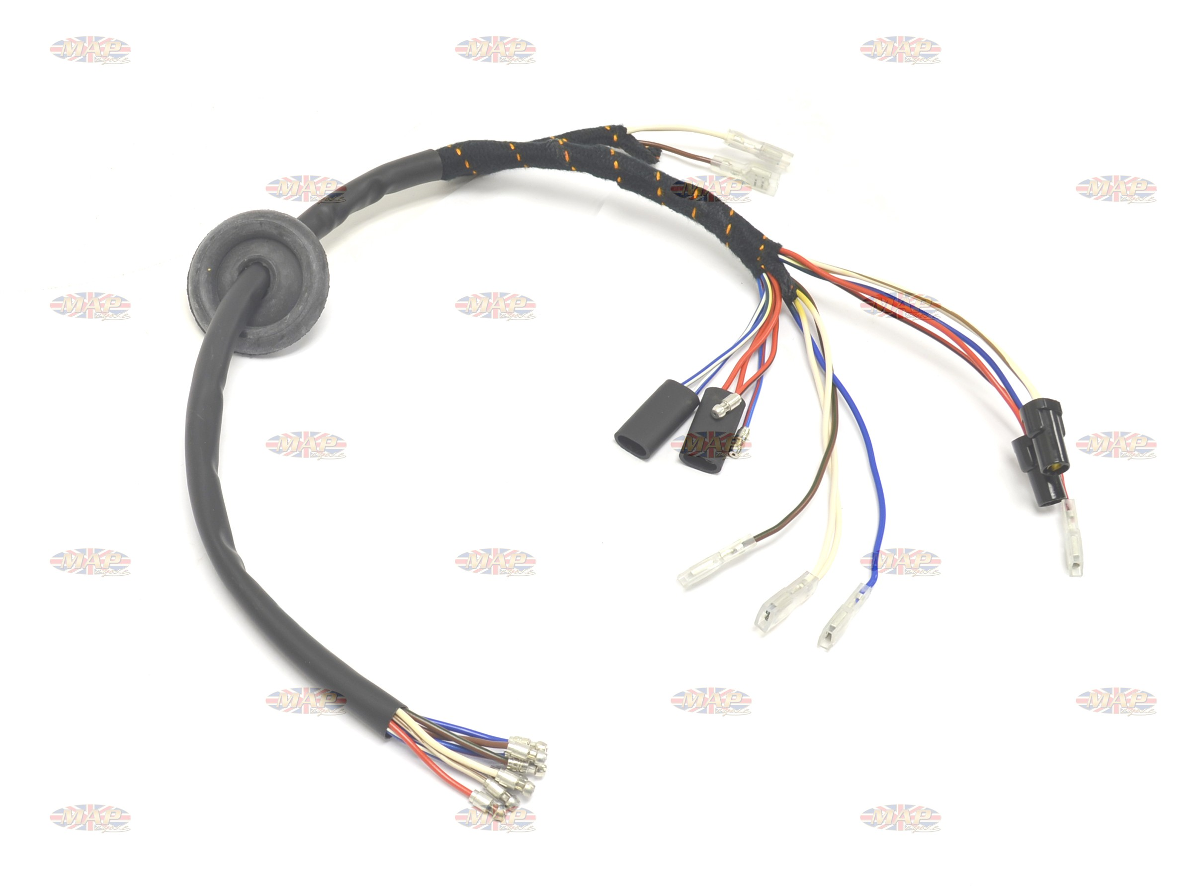 Triumph 1973 X75 Hurricane English Made Headlight Wiring Harness Cloth Wrapped H078h