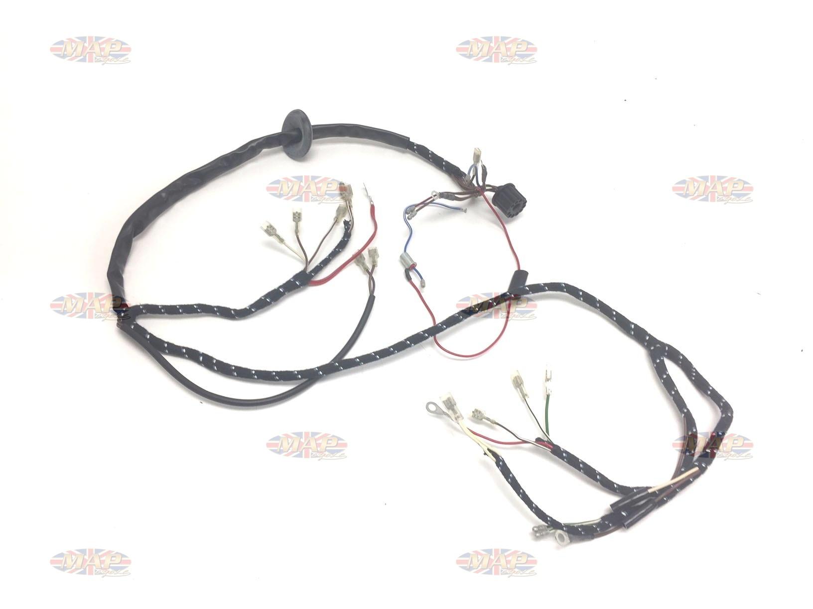 BSA 1967 A50 A65 Quality English-Made 12-volt Wiring Harness H129