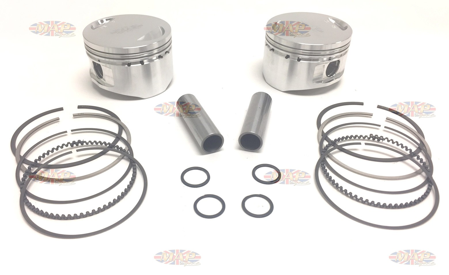 Norton Commando 750cc Long-Rod Billet Piston Set MAP9032-9033A-BILLET