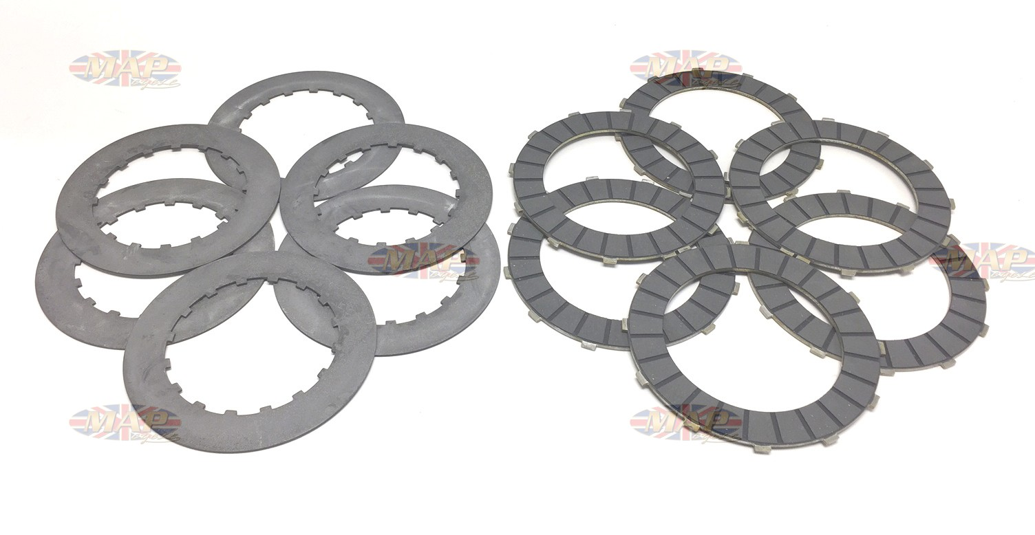 Clutch Plate Set for MAP Belt Drive Kit -1963-later 650/750cc Models MAP2053A
