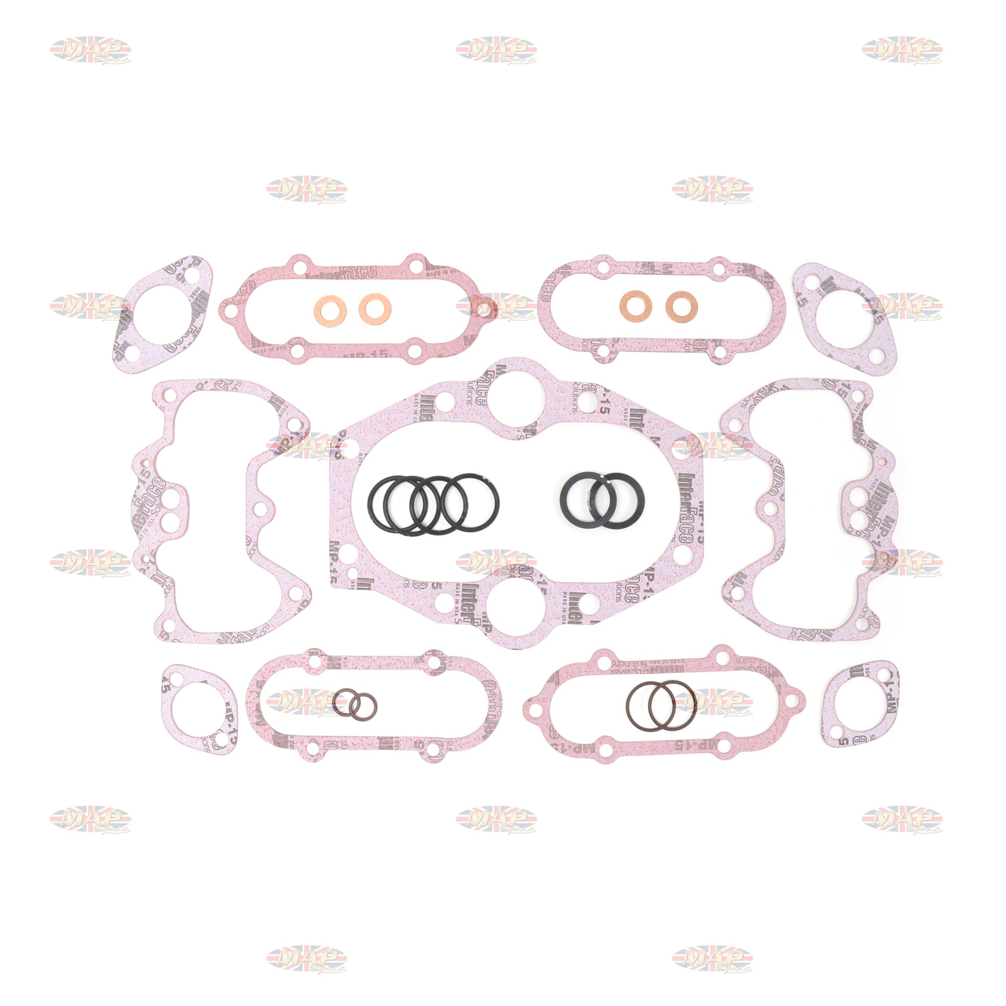 Triumph 650/750 72-79 5 Speed Gasket Set - Top End  MAP0105