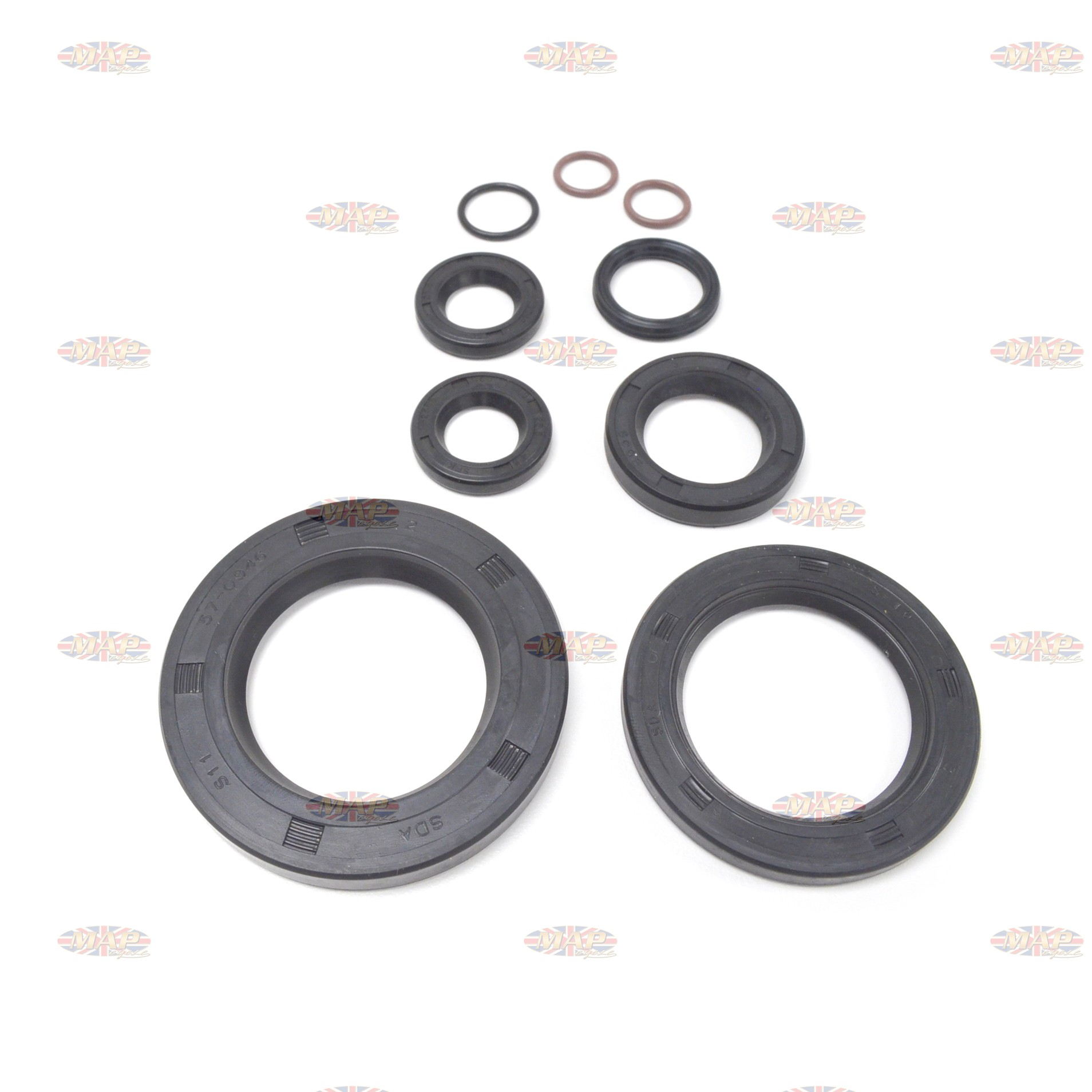 "Triumph 650 63-68 w/1.38"" OD Door Seal Kit MAP0204/A"