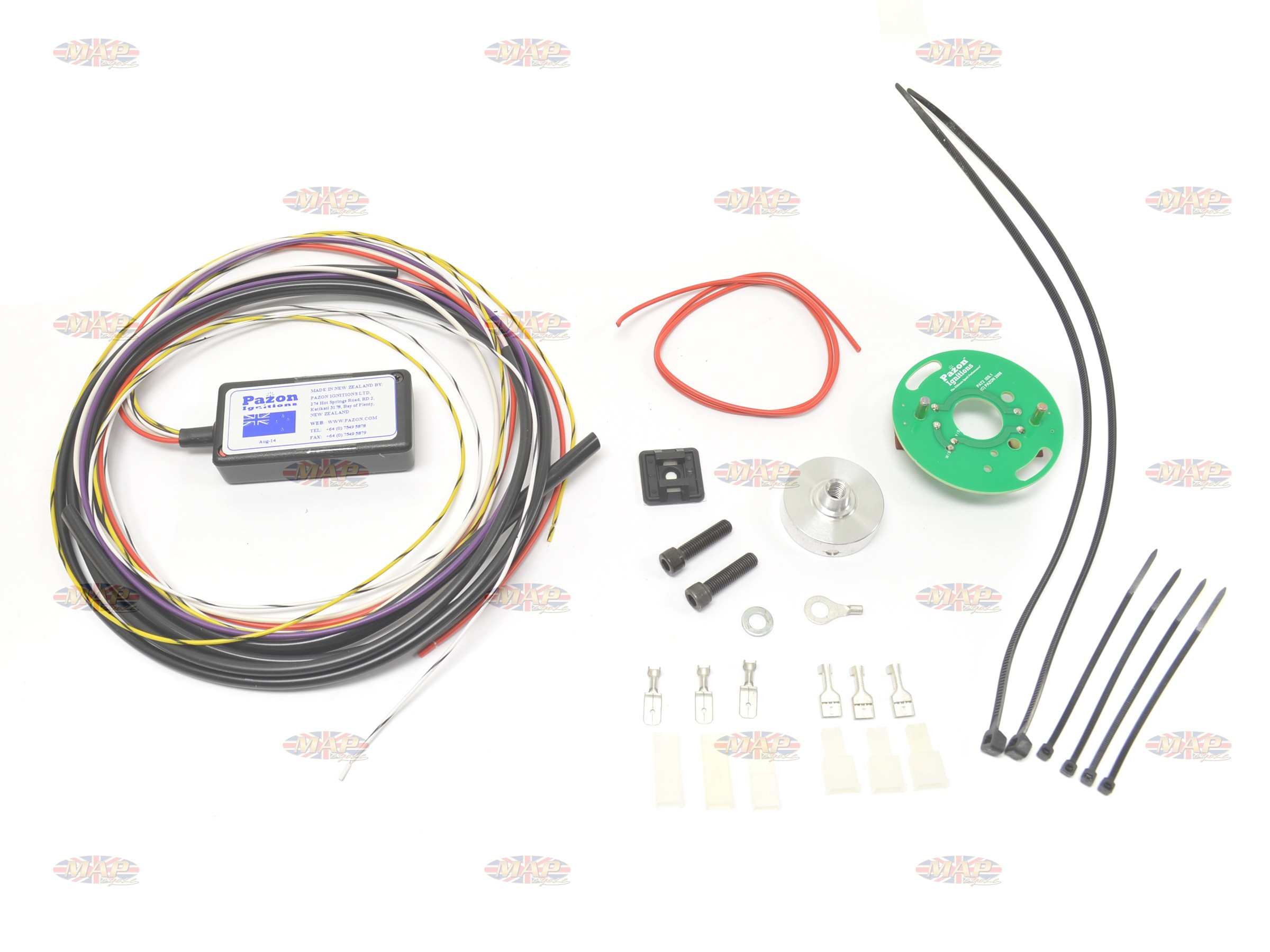 pazon sure fire 6 volt electronic ignition for triumph bsa singles rh mapcycle com 6 Volt Coil Wiring Farmall Cub 6 Volt Wiring