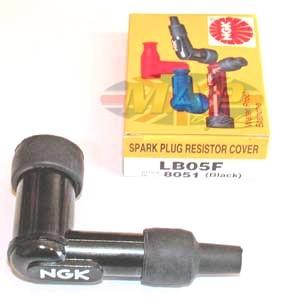 NGK High Quality Resistor Spark Plug Cap (Stud Over Nipple)  (5Kohms-90degree-OverNipple) MAP4488/R
