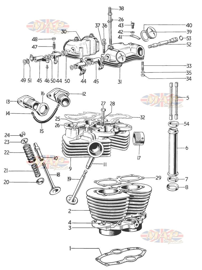 Cylinder and Head - T120