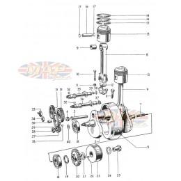 Crank & Conrods 1968-TR6-T120-Crank & Conrods
