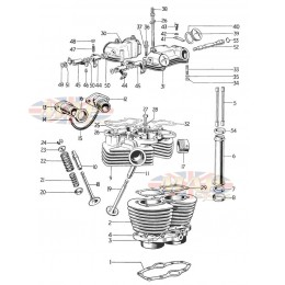Cylinder and Head - T120 1968-TR6-T120-Cylinder and Head - T120