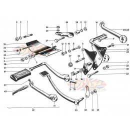 Engine Fittings, Footrests 1968-TR6-T120-Engine Fittings, Footrests