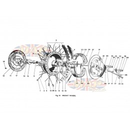 Front Wheel 1968-TR6-T120-Front Wheel
