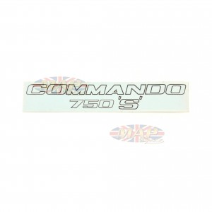 DECAL/  COMMANDO 750 'S'  (SIDE COVER) 06-1207