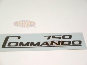 DECAL/  750 COMMANDO / BLACK 06-2020