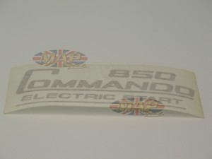 DECAL/  850 COMMANDO ELECTRIC START  GLD 06-6388