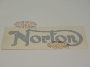 DECAL/  NORTON  BLACK (GASTANK) 06-6987