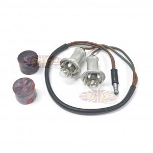 Genuine NOS Lucas Dual Instrument Light Bulb Holder with Bulbs 54953387