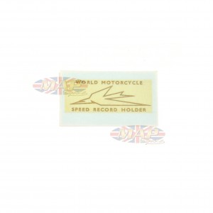 DECAL/  WORLD MCY SPEED RECORD HOLDER 60-0056