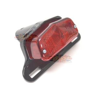 Lucas Style Taillight & Plate Holder - Satin Black 62-21510B