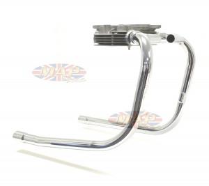 Triumph T100, 500cc, UK-Made, Over Spigot, Balanced Exhaust Header Pipes  70-9662/9663