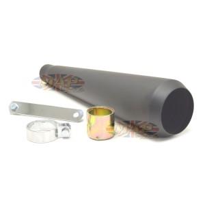 Reverse Cone Megaphone Muffler No Baffle Black 80-84029B