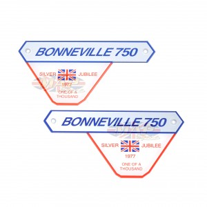 Triumph T140 Jubilee Model Side Panel Emblems (pair) 83-7078/7079