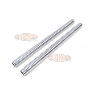 """Triumph BSA Twins and Triples, 2"""" Extended, Chrome Fork Tubes  97-4007/P2"""