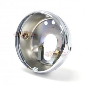 Triumph BSA Twin and Triple Flat Back Chrome Headlight Shell With Rim   99-1009/P