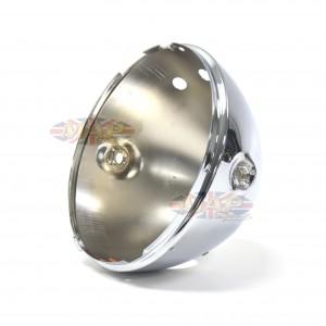 "Triumph BSA Norton Lucas Replica Headlight Shell 7""  Warning Light and Switch Holes 99-7039/P"
