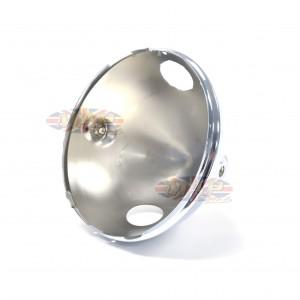"""Triumph BSA Norton Lucas Replica Headlight Shell 7"""" Ammeter Hole 99-9968/P"""